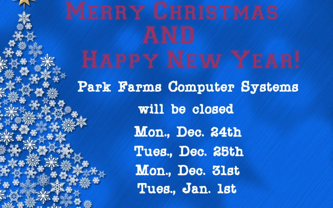 Christmas closed dates
